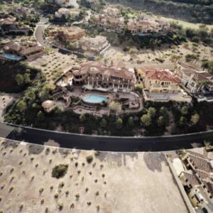 "Michael Light, ""Monaco"" Lake Las Vegas home and foreclosed neighbor, on guard-gated Grand Corniche Drive, Henderson, Nevada; 2010"