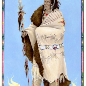 Ria Brodell, Woman Chief, 2011, gouache on paper, 11 x 7 inches