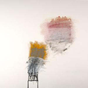 Rocio Rodriguez, Big Yellow, Big Black, 2013, oil on canvas, 66 x 95 1/2 inches