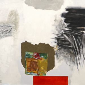 Rocio Rodriguez, Five Events, 2013, oil on canvas, 68 1/2 x 120 1/2 inches
