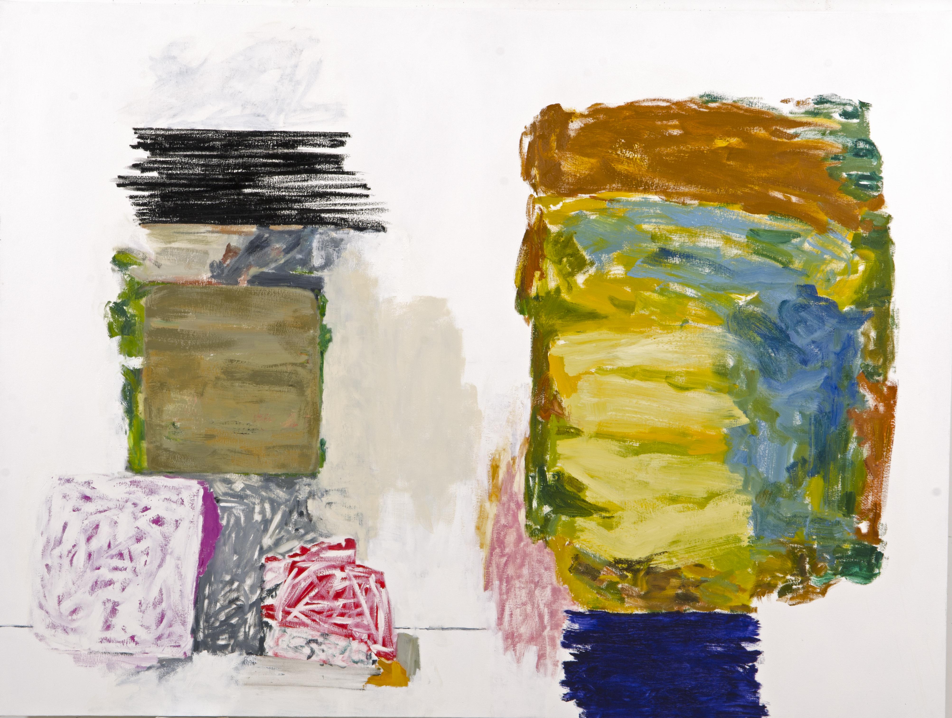 Rocio Rodriguez, The Studio, 2013, oil on canvas, 72 x 9025 inches