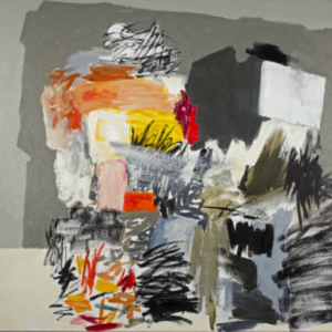 Rocio Rodriguez, Pile of Paint, 2014, oil on canvas, 18 x 18 inches
