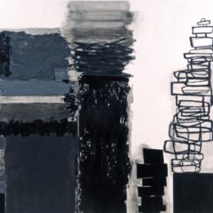 Rocio Rodriguez, Mesa, 2015, oil on canvas, 34 x 38 3/4 inches