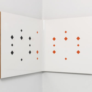 Richard Rezac, Untitled (07-08), painted cherry wood, 17 1/4 x 21 3/4 x 18 inches
