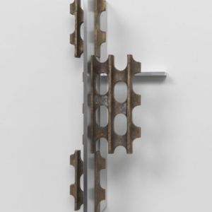 Richard Rezac, Untitled (08-02), cast bronze and aluminum, 22 1/2 x 10 x 9 1/2 inches