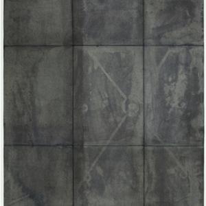 Carl Suddath, untitled, 2015, dye, salt, folded paper, 30 x 22 inches