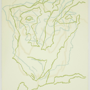 Carl Suddath, fear of death, 2015 gouache and pencil on paper, 24 x 18 inches