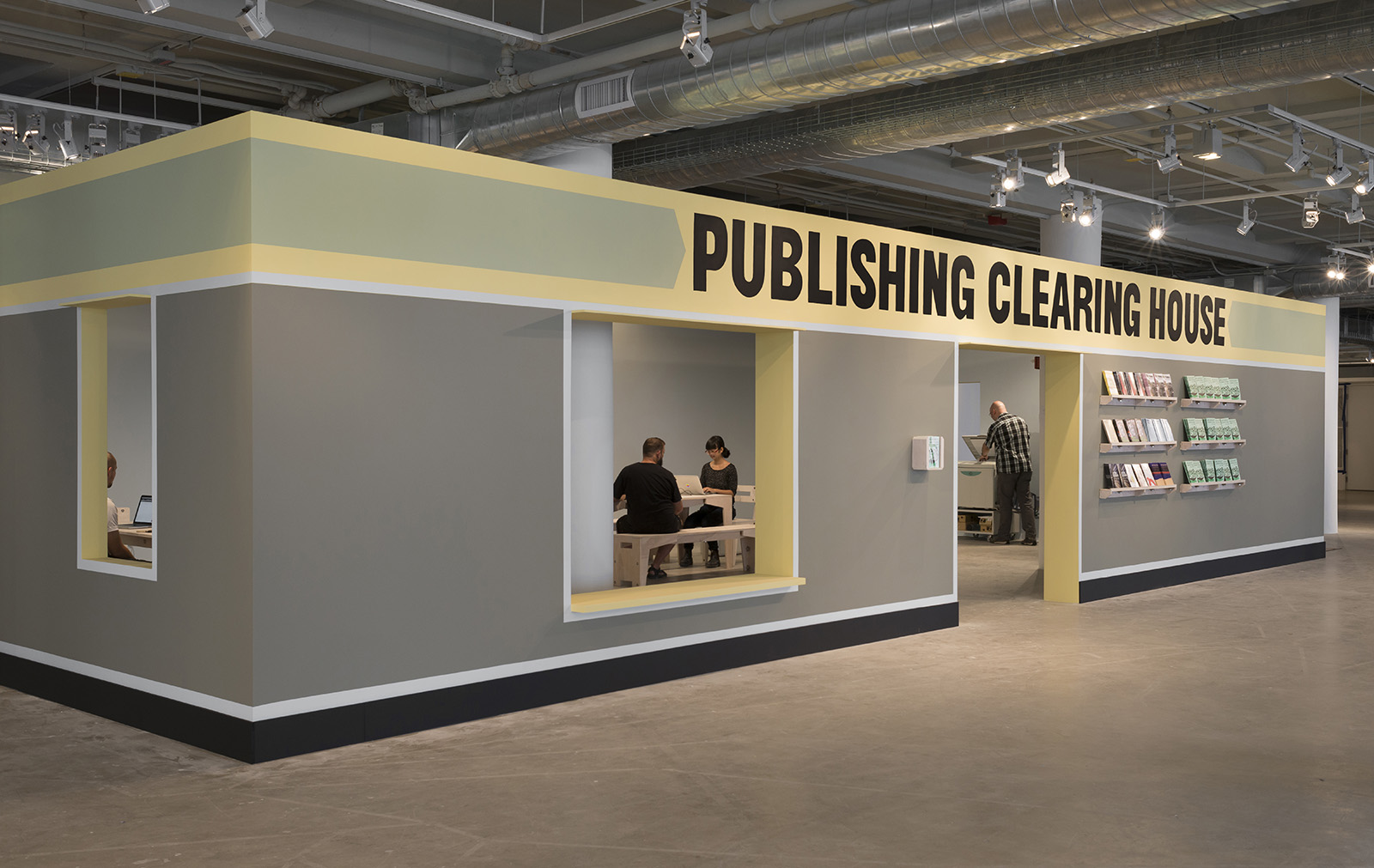 Temporary Services, Publishing Clearing House, Sullivan Galleries, Chicago, 2014