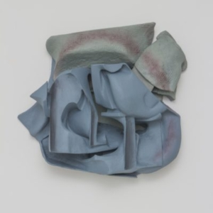 Vincent Fecteau, Untitled, 2014, resin, clay, acrylic paint, 25 x 26 x 10 inches