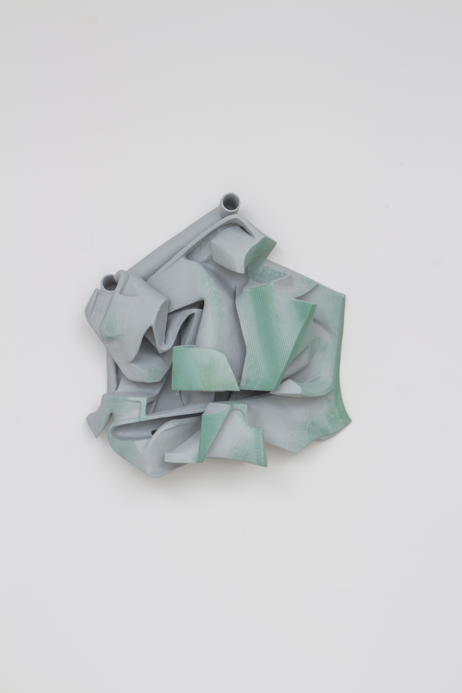 Vincent Fecteau, Untitled, 2014, resin, clay, acrylic paint, 26 x 28 x 8 inches