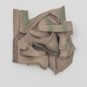 Vincent Fecteau, Untitled, 2014, resin, clay, acrylic paint, 27 x 24 x 8 inches