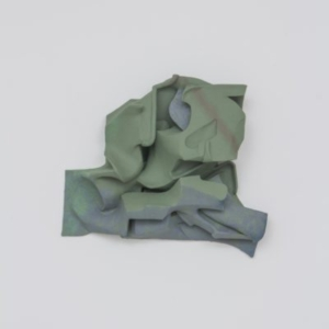 Vincent Fecteau, Untitled, 2014, resin, clay, acrylic paint, 24 x 26 x 8 inches