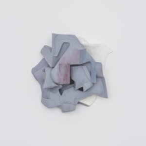 Vincent Fecteau, Untitled, 2014, resin, clay, acrylic paint, 22 x 25 x 11 inches