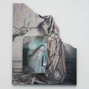 Vincent Fecteau, Untitled, 2014, mixed media, collage, 10 x 8 x 1 1/2 inches