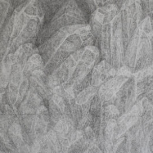 Xiaowei Chen crystal, 2015, ink line on paper, 24 X 13 inches