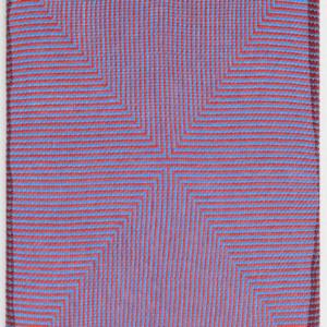 Samantha Bittman, Untitled, 2015, acrylic on hand-woven textile, 20 x 16 inches