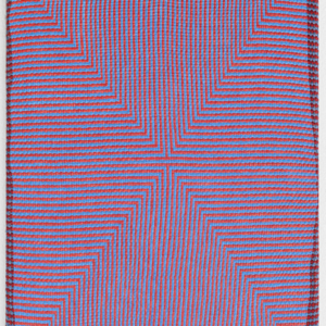 Samantha Bittman, Untitled, 2015, acrylic on hand-woven textile, 20 x 16 inches