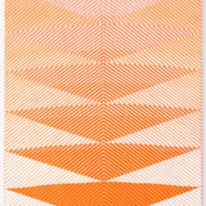 Samantha Bittman, Untitled, 2015, acrylic on hand-woven textile, 24 x 20 inches