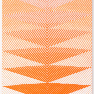 Samantha Bittman, Untitled, 2015, acrylic on hand-woven textile, 24 x 20 inches