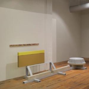 Stephen Reber, Dredge, 2014, concrete, wood, paint, 50 x 144 x 24 inches
