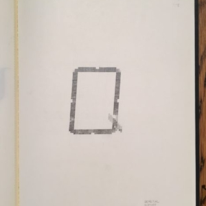 Augusto Di Stefano, q, 2015, graphite on paper within notebook, 9 7/8 x 7 1/4 inches