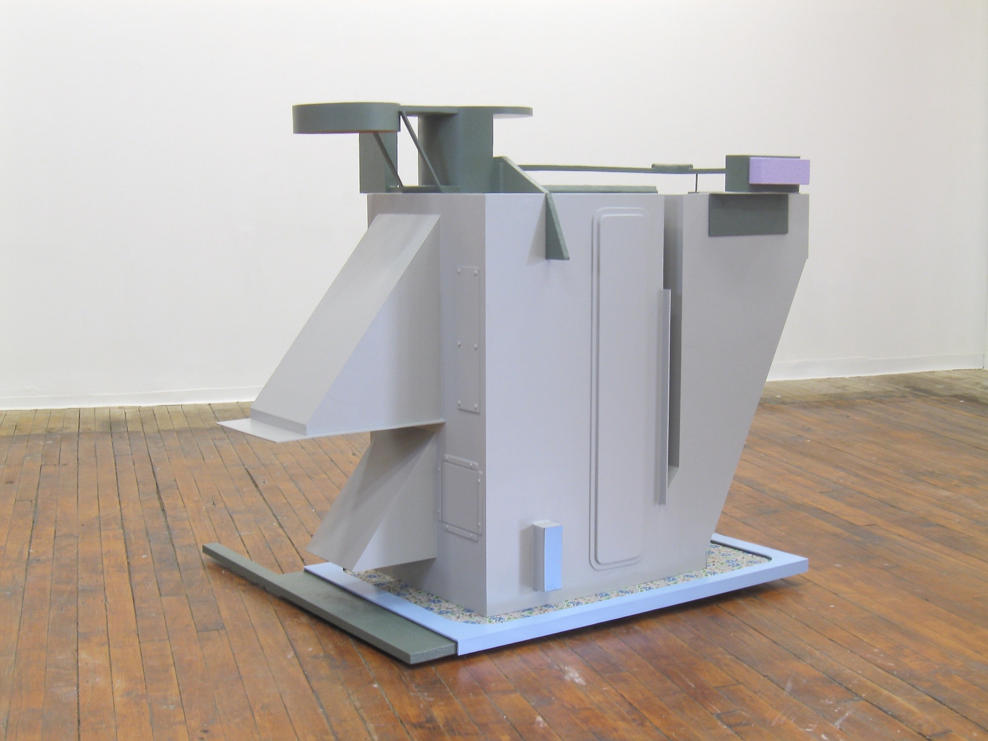 Stephen Reber, Air Handler (partially sighted), 2015, wood, mdf, molded plastic, aqua resin, fabric, oil paint, 42 x 56 x 40 inches