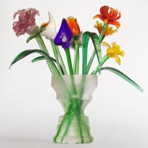 Joe Zane, Tulip Head, 2008, handblown glass, silicone, 24 x 16 x 16 inches