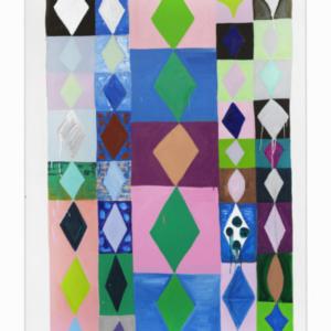 Judy Ledgerwood, Wonder Boy, 2015, oil on canvas, 84 x 60 inches