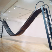 Karyn Olivier, Doubleslide, Views at The Studio Museum in Harlem (NY, NY), 2006, steel, 7 1/2 h x 25 w x 22 d inches