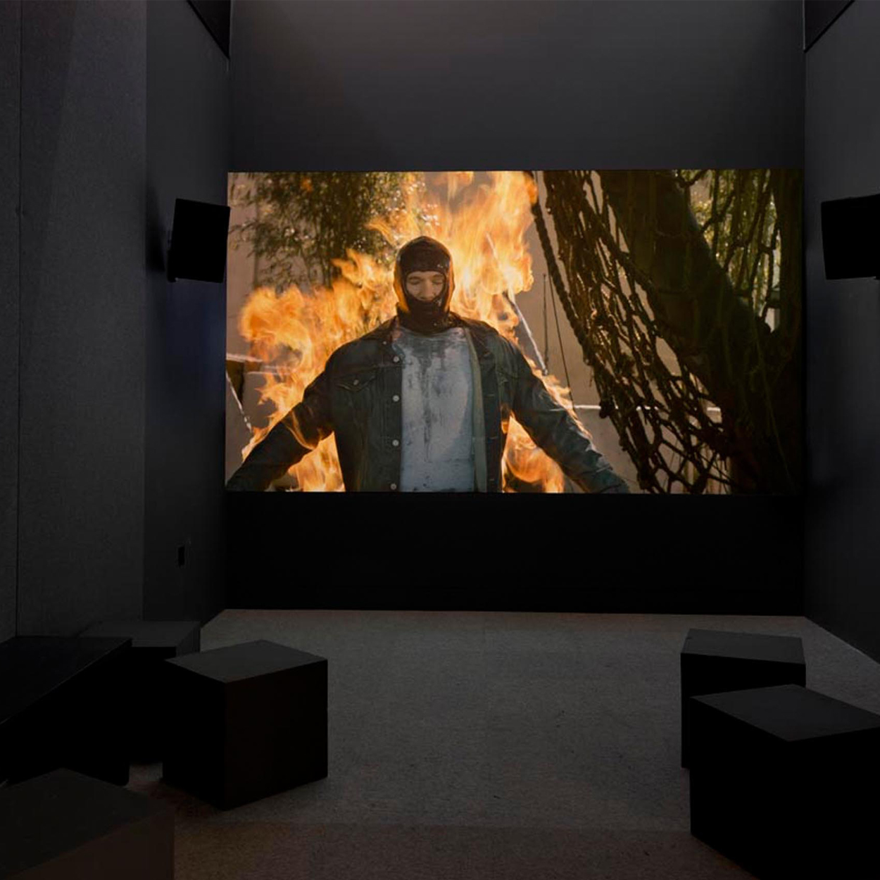 Mariah Garnett, Full Burn Install, 2014, 20min, HD Video, installed at Made in LA, Hammer Biennial