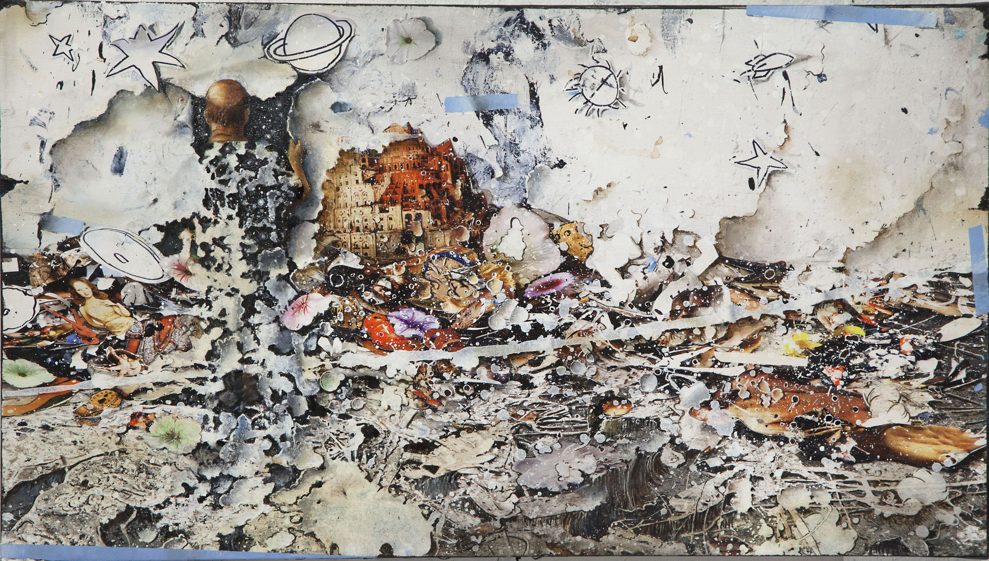 Gerry Bergstein, WINDOW, 2015, mixed media, 19 x 31 inches 19 x 30 inches