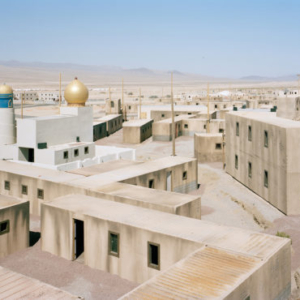 Claire Beckett, Lookout above Medina Wasl Village, National Training Center, Fort Irwin, CA, 2008, 2008, archival inkjet photograph, 30 x 40 inches