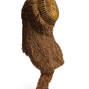 Nick Cave, Soundsuit, 2011, mixed media including twigs, wire, basket, upholstery, metal, and mannequin, 95 x 32 x 41 inches. Photo by James Prinz Photography. Courtesy of the artist and Jack Shainman Gallery, New York