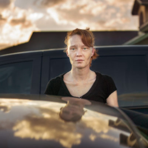 Jim Goldberg, Untitled (Woman with Reflection) from Prop Roots Vol. 5, 2014, archival inkjet print, 30 x 40 inches