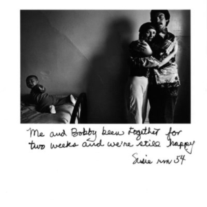 Jim Goldberg, Susie rm 54 from Rich and Poor, 1977, gelatin silver print, 11 x 14 inches
