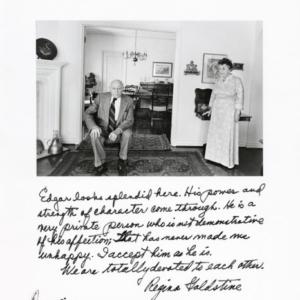 Jim Goldberg, Edgar & Regina Goldstine from Rich and Poor, 1977, gelatin silver print, 11 x 14 inches