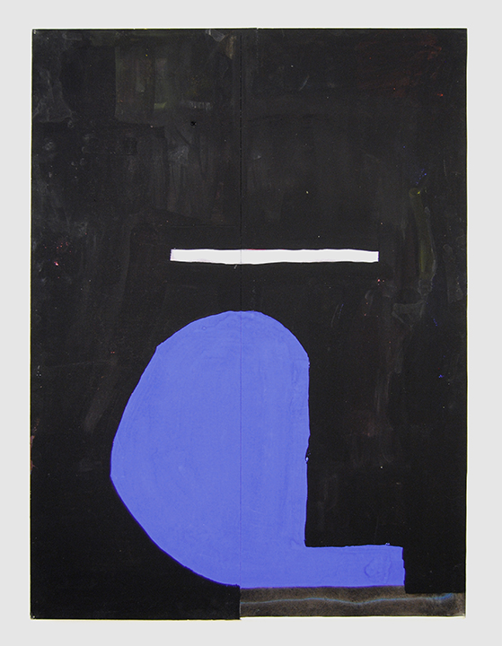 Shaun O'Dell, TBT, 2016, gouache and acrylic ink on paper mounted on canvas mounted on panel, 30 x 22 inches. Courtesy of Susan Inglett Gallery, NYC