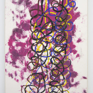 Shaun O'Dell, Some Old Tangle, 2016, gouache and acrylic ink on paper mounted on canvas mounted on panel, 30 x 22 inches. Courtesy of Susan Inglett Gallery, NYC