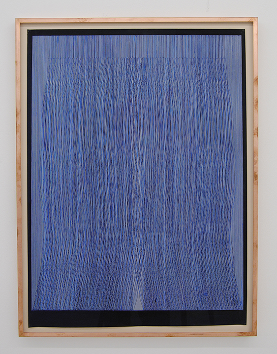 Shaun O'Dell, Refalls, 2016, ink and gouache on paper in copper frame, 30 x 22 inches. Courtesy of Susan Inglett Gallery, NYC