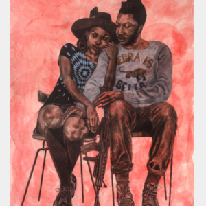 Robert Pruitt, Garveyite Celestials, 2015, mixed media on paper, 120 x 96 inches