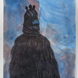 Robert Pruitt, GAWWWD, 2015, mixed media on paper, 84 x 60 inches