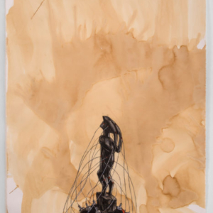 Robert Pruitt, Telepath, 2015, coffee charcoal and mixed media on paper, 44 x 31 inches