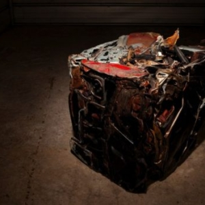 Guy Overfelt, untitled (my 1977 Trans Am crushed into a cube), 1996 - 2012, crushed automotive steel, 24 x 24 x 24 inches