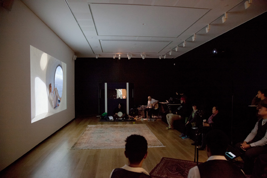 Amie Siegel, Winter, 2013, S-16mm transferred to High Definition, 33 minutes, color/sound, performance, objects. Image courtesy of www.amiesiegel.net