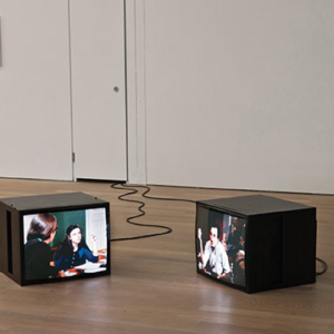 Amie Siegel, Black Moon / Mirrored Malle, 2010, 2-channel video installation, 4 minutes, color/sound. Image courtesy of www.amiesiegel.net
