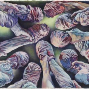 Brett Reichman, Simulation Masturbation, 2009, watercolor and gouache on paper, 26 x 40 inches. Image courtesy of www.brettreichman.com