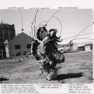 Indian Pow-Wow Mapped by Mesro Coles-El, 2013, from the series San Quentin Project # 2 Archive Mapping. Image courtesy of www.nigelpoor.com