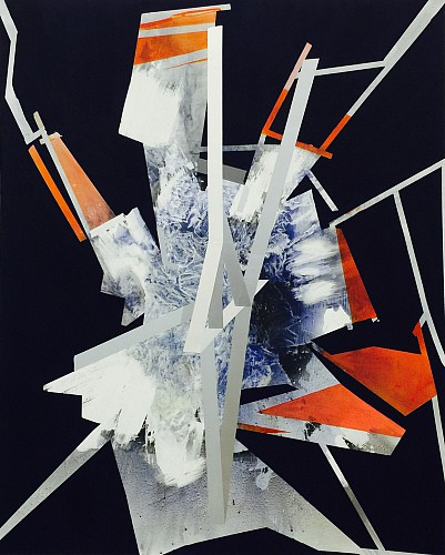 Sigrid Sandstrom, Untitled, acrylic on polyester canvas, 76 x 60 inches. Image courtesy of www.sigridsandstrom.com
