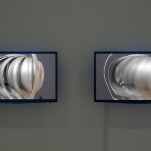 Demetrius Oliver, Instrument, 2015 video, two flat screen monitors, ed. 4, dimensions variable