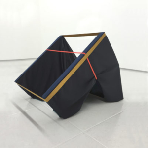 Katy Heinlein, Double Blind, 2016, cloth and wood, 36 x 48 x 48 inches, courtesy of the artist and Art Palace Gallery, Houston, TX